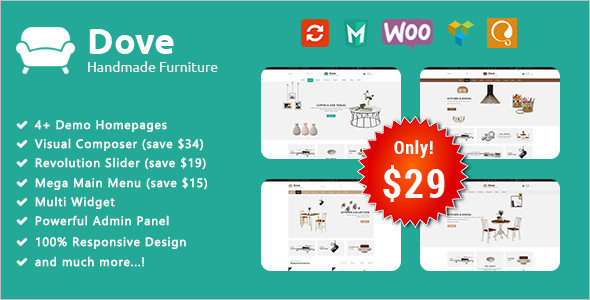 Responsive Furniture Bootstrap Theme