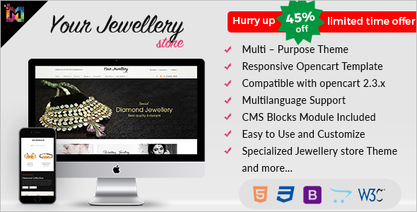 Responsive Jewelry OpenCart Template