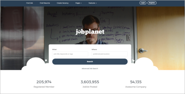 Responsive Job Portal WordPress Template