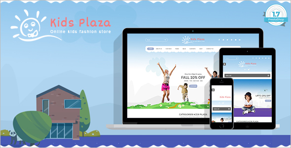 Responsive Kids Website Template