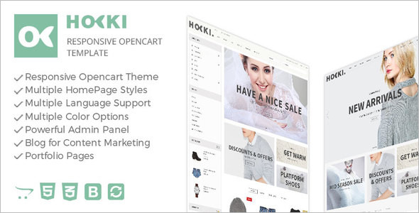 Responsive Mobile Friendly OpenCart Theme