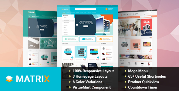 Responsive Mobile Store VirtueMart Theme