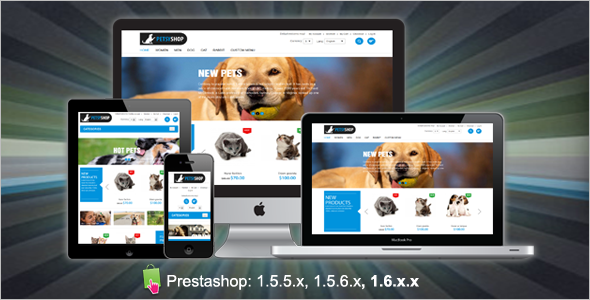 Responsive Pet Prestashop Template