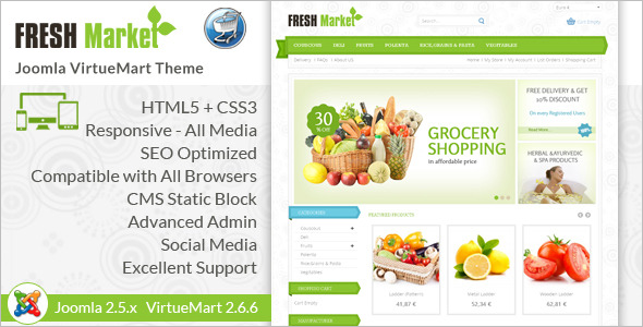 Responsive VirtueMart Template