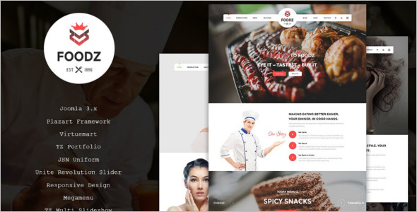 Restaurant Business Joomla Website Template