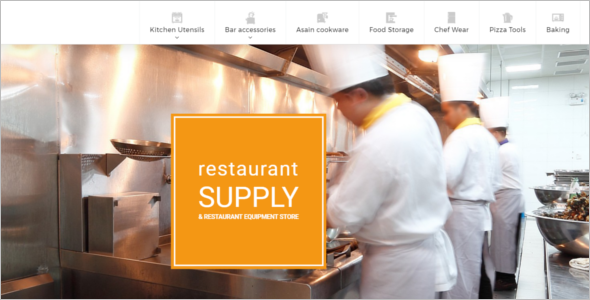 Restaurant Equipment Prestashop Theme