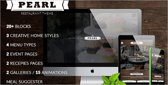 Restaurant Food Recipe Website Template