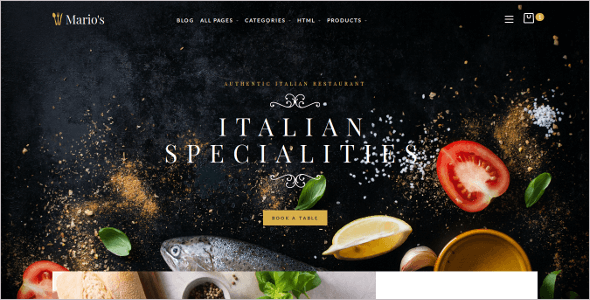 Restaurant Opencart E-commerce Theme