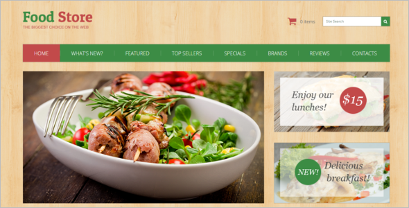 Restaurant OsCommerce Template