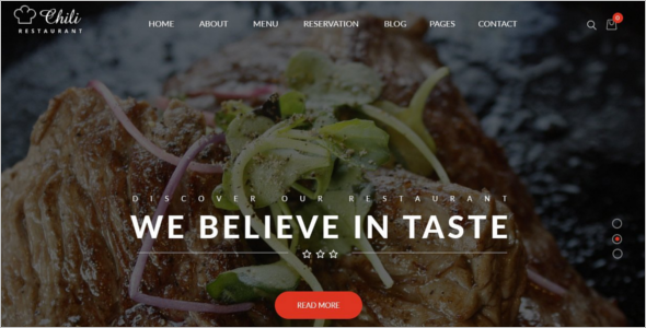 Restaurant Reservation Website Template