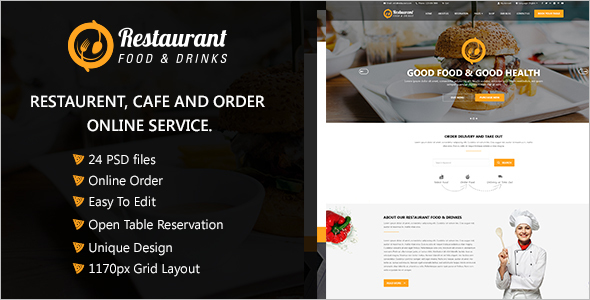 Restaurant Reservation Website Theme