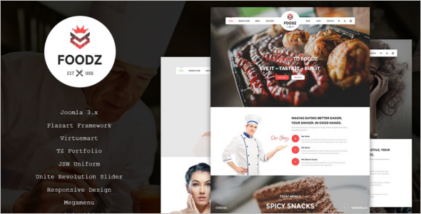 Restaurant SEO Friendly Joomla Template
