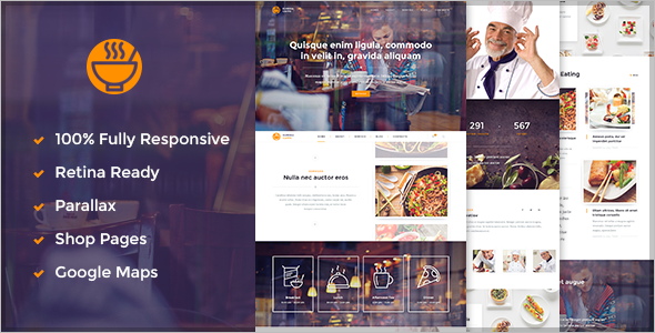 Restaurant Services Website Tem plate