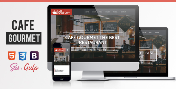 Restaurant Vintage Website Template