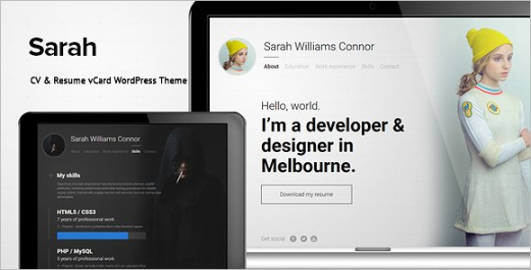 Resume Art WordPress Template