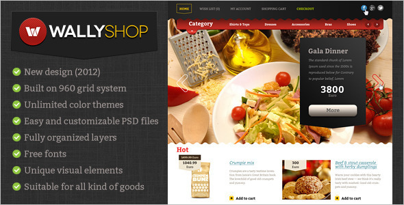 Retail Restaurant OpenCart Template
