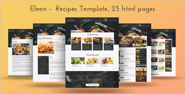 RetailFood Recipe Website Template