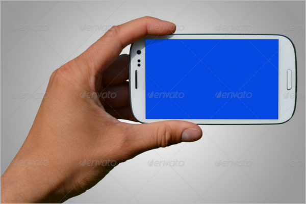 S3 Hand Mobile Mockup Template