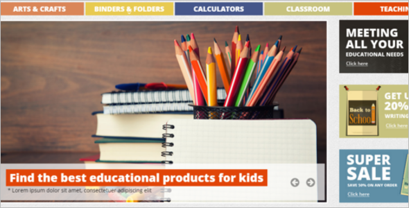 School Essentials E-commerce Template