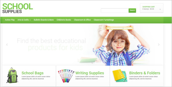 School OpenCart Template