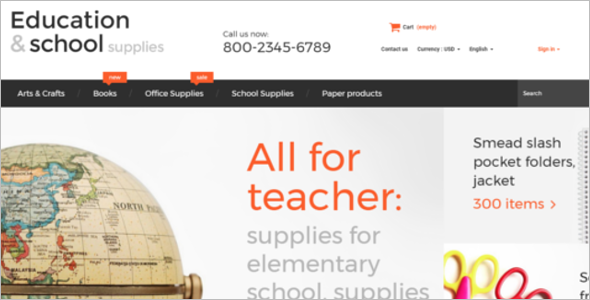 School Supplies PrestaShop Theme