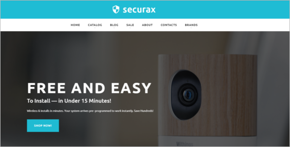 Security Equipment Opencart Theme