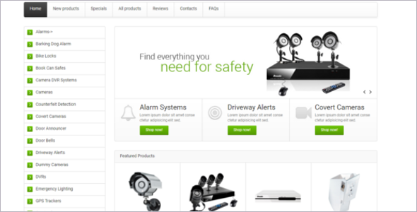 Security Weapons Business Zen Cart Template