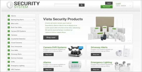 Security Weapons OsCommerce Template