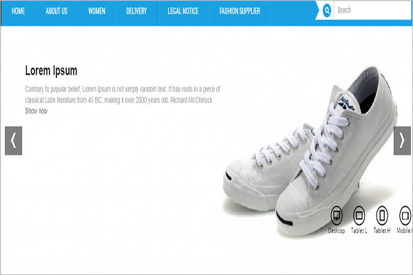 Shoe Prestashop Template