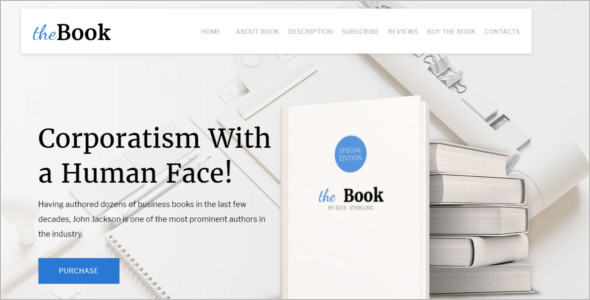 Single Book Website Template