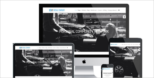 Social Network Company WordPress Theme