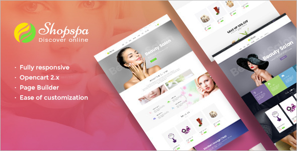 Spa Salon Opencart Template