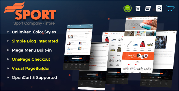 Sport OpenCart E-commerce Theme