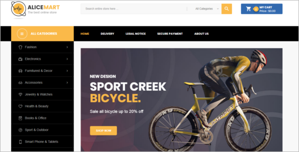 Sports Bike Prestashop Theme