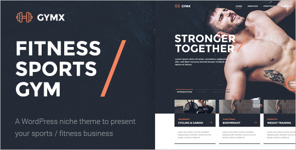 Sports Fitness Website Theme