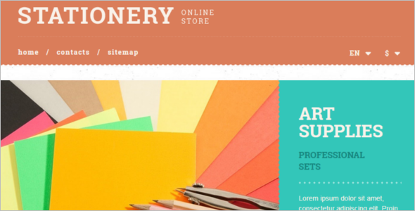 Stationery Paper E-commerce Template