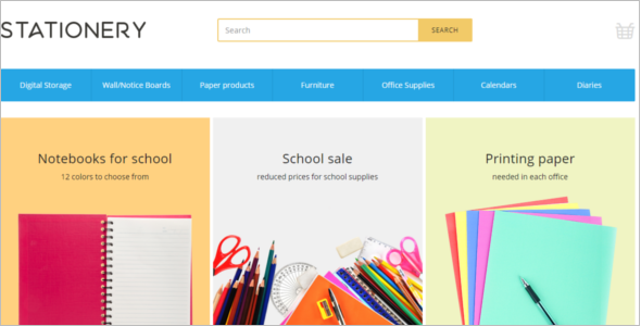 Stationery Store E-commerce Template