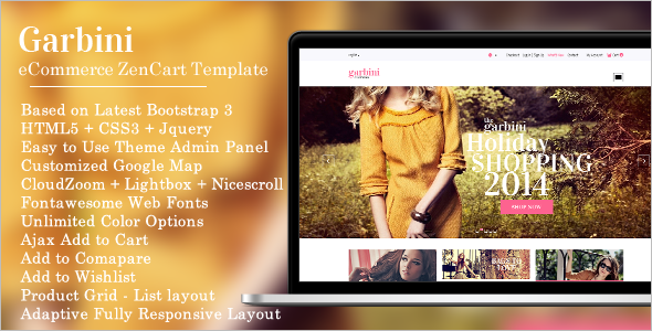 Stylish Mobile Friendly Zencart Template