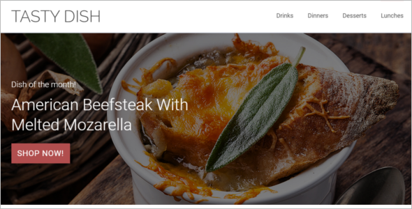 Tasty Dish OpenCart Template