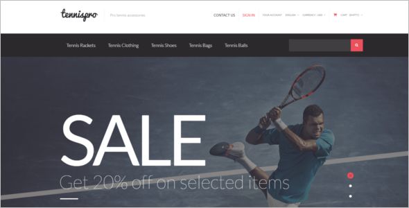 Tennis PrestaShop Theme