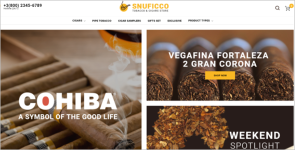 Tobacco Business Magento Template