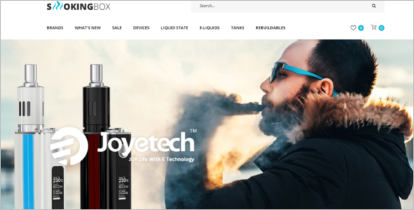 Tobacco Business Opencart Theme