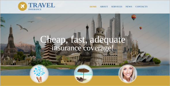 Travel Insurance Website Template