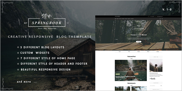 Travel Photography Blogger Template