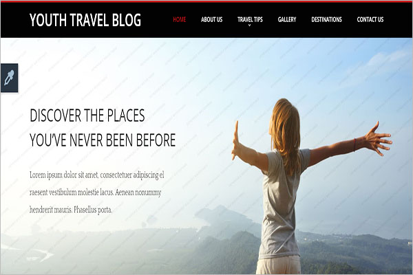 Travel Trip Blog Template