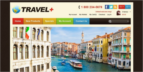 Travel Website Magento Theme