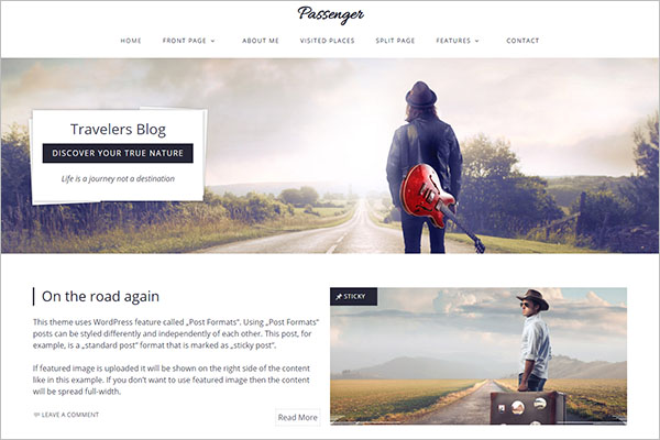 Travellers  Blog Template
