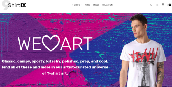 Tshirt Prestashop E-commerce Theme