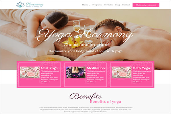 Unique Yoga WordPress Theme