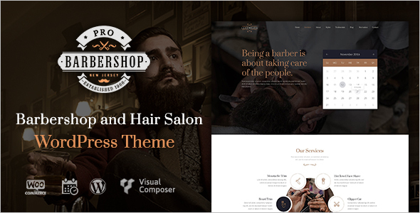 Vinatge Barbershop Website Template